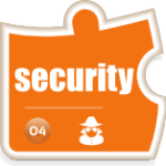 Icon for the Assimilation cybersecurity (security) component of the Assimilation System Management Suite of products
