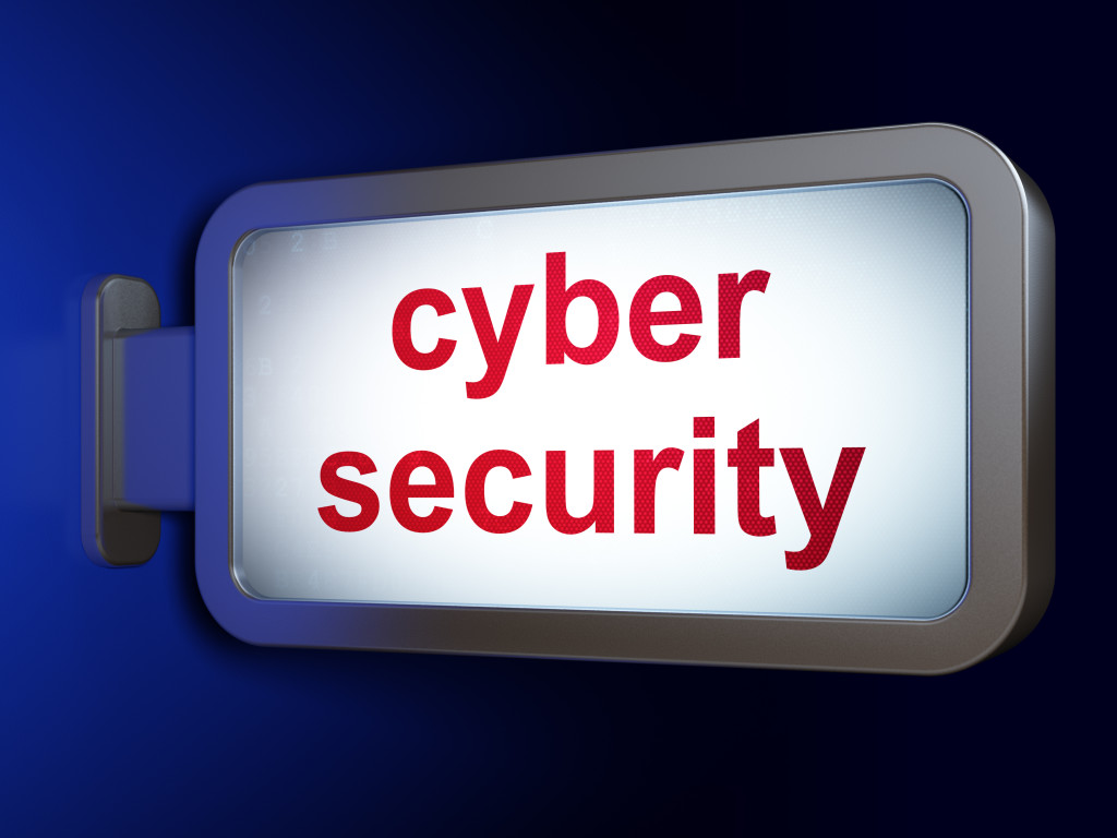 Cyber Security (aka cybersecurity) sign - for CyberSecurity features