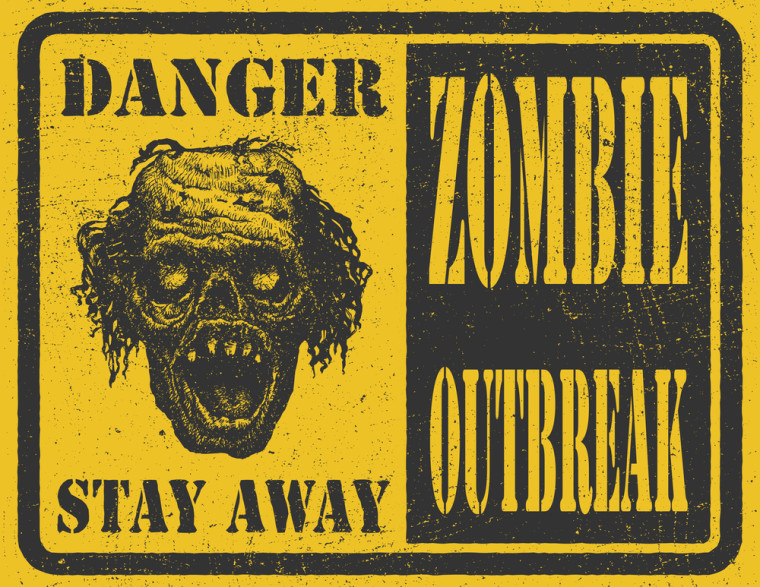 Zombie outbreak sign (for an article about Zombie servers)
