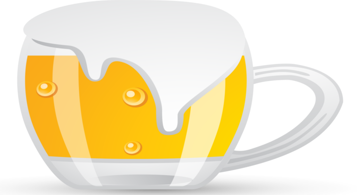 bufferbloat illustration via a fat overflowing beer mug