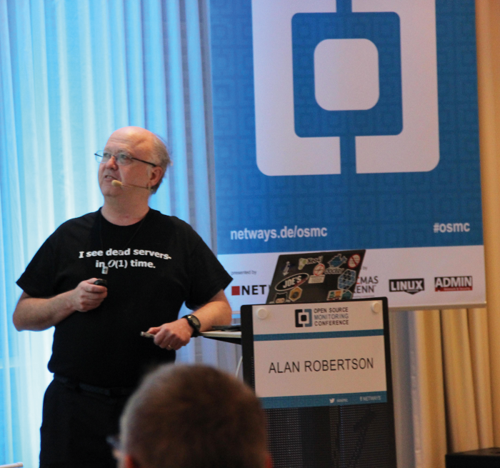 Picture of Alan Robertson from the German publication Linux Magazin